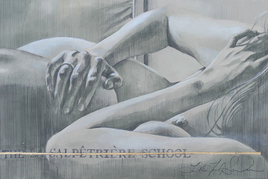 Faith47 - La Salpetriere School I. Graphite and ink on archival paper, 37.5 x 23