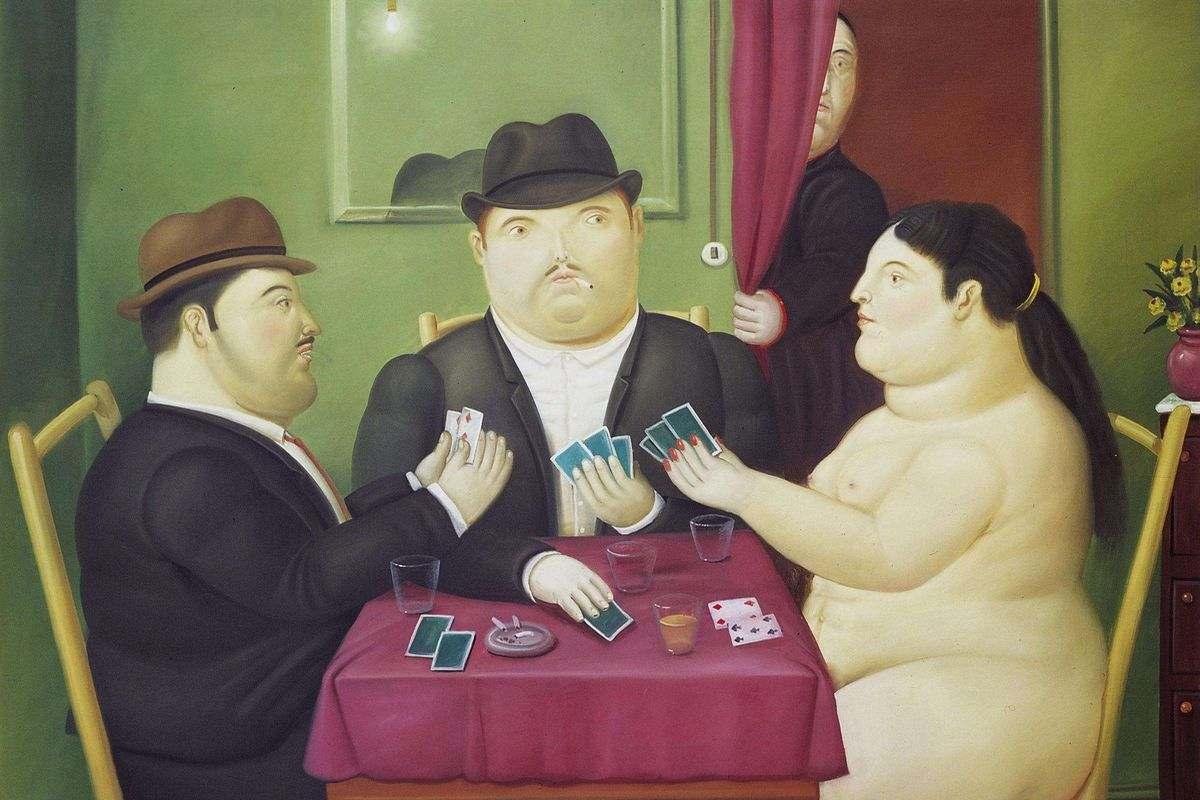 Fernando Botero - Card Players, 1991, via pinterest com