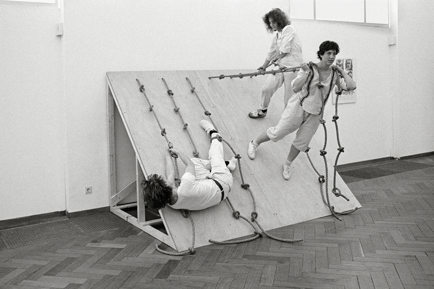 Simone Forti - Slant Board, 1961 - Courtesy of Moderna Museet