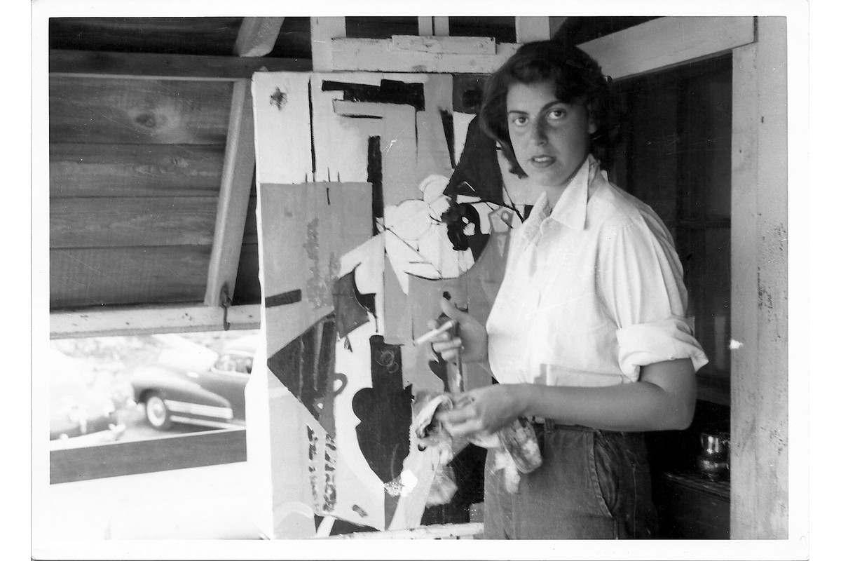 Frankenthaler during the weeks of Hans Hofmanns class