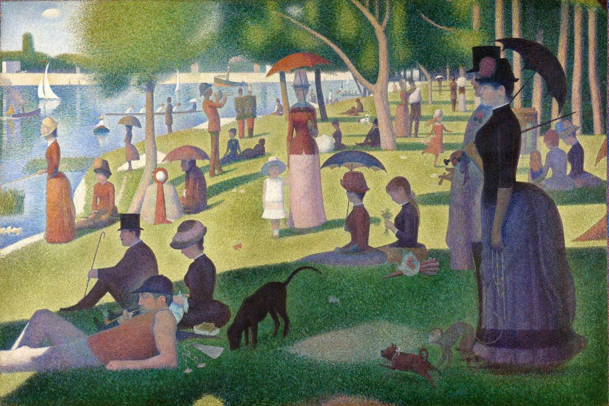Georges Seurat - A Sunday Afternoon on the Island of La Grande Jatte - Image via mydailyartdisplaycom