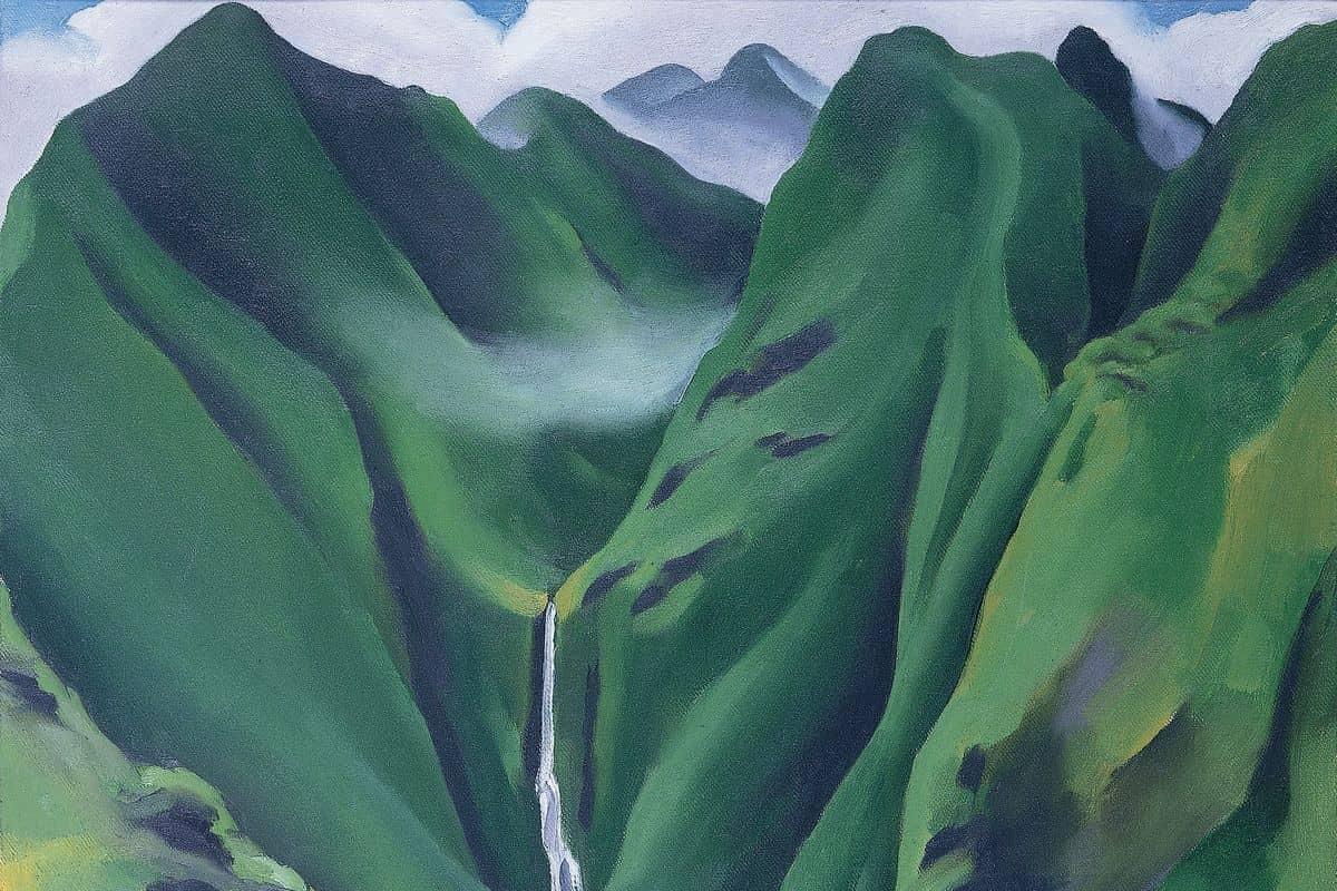 Georgia O'Keeffe - Waterfall No 1 (detail)