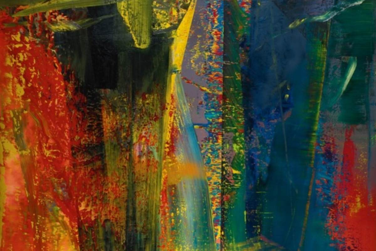 Gerhard Richter - Abstraktes Bild, detail (courtesy of Sotheby's)