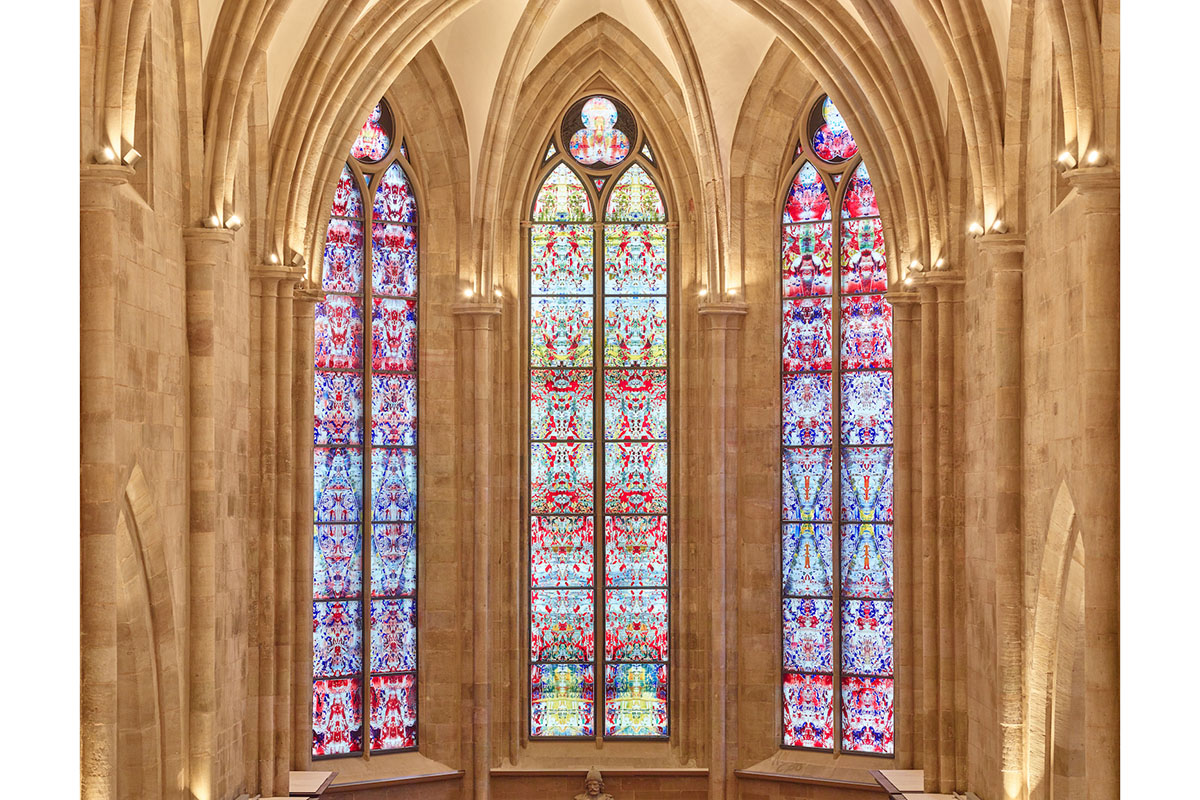 Gerhard Richter's new stained glass windows in Tholey Abbey