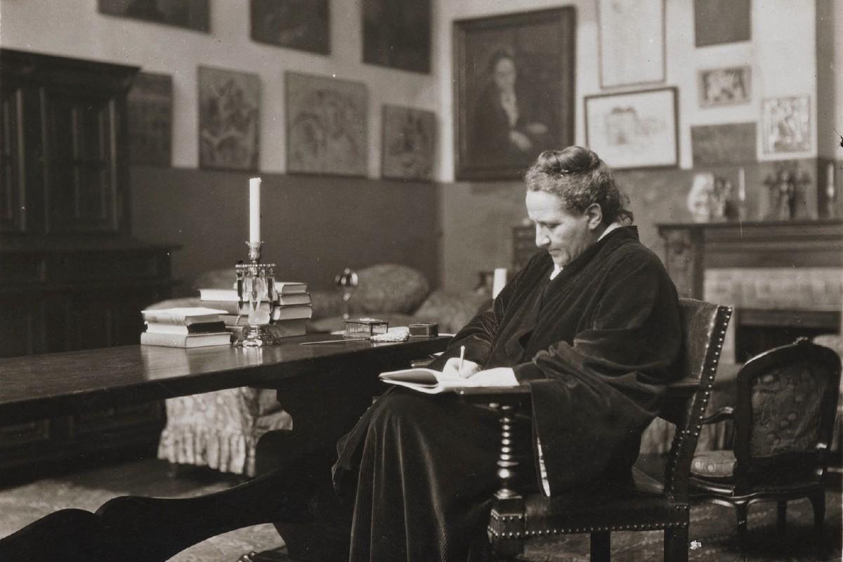 Gertrude Stein Writing at Her Home, via turtlepointpress