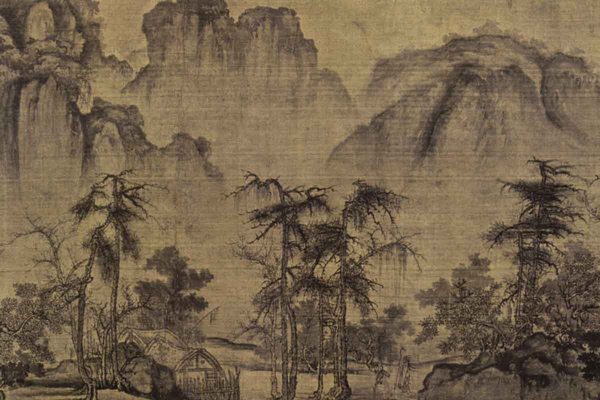 Guo Xi - Autumn in the River Valley, c 1070 via wikipedia org