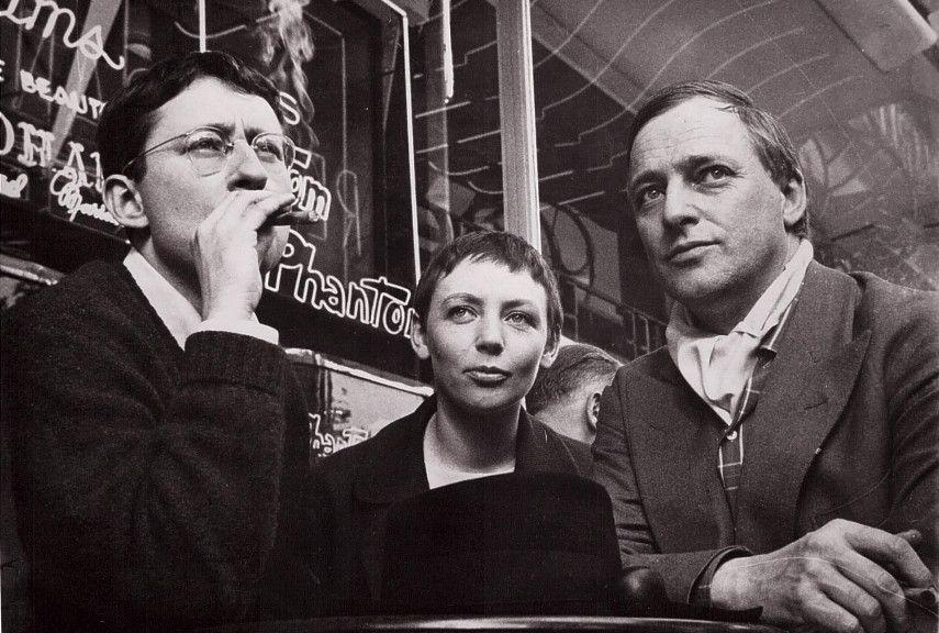 Guy Debord, Michèle Bernstein and Asgar Jorn - Image via spikecom