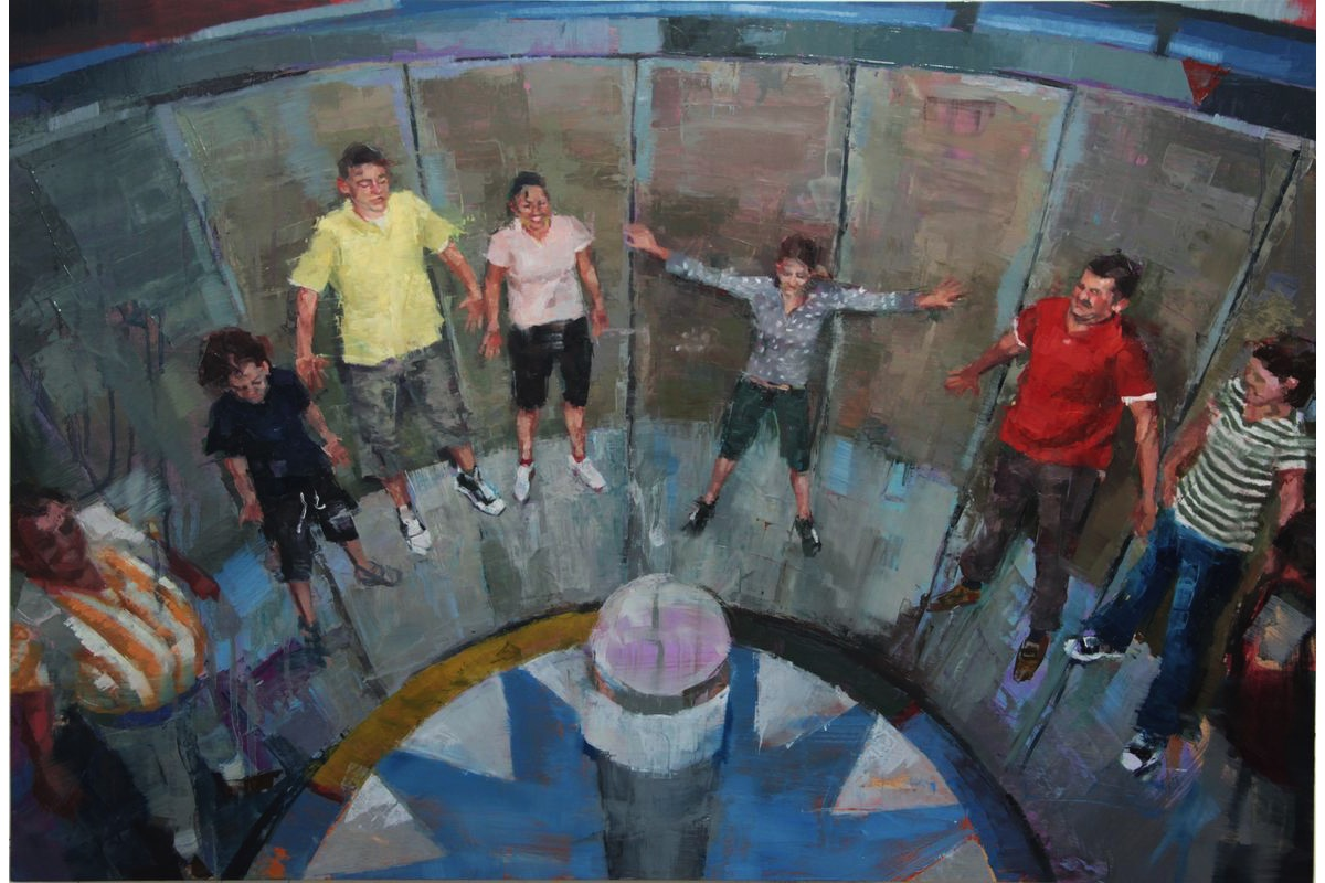 Helen Bur - Rotor II, Oil on Panel, 60 x 90 cm