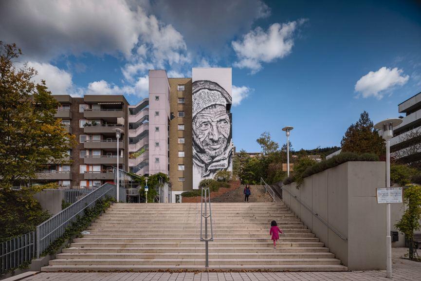 Hendrik Beikirch -Mural in Heidelberg, photo credit Thilo Ross