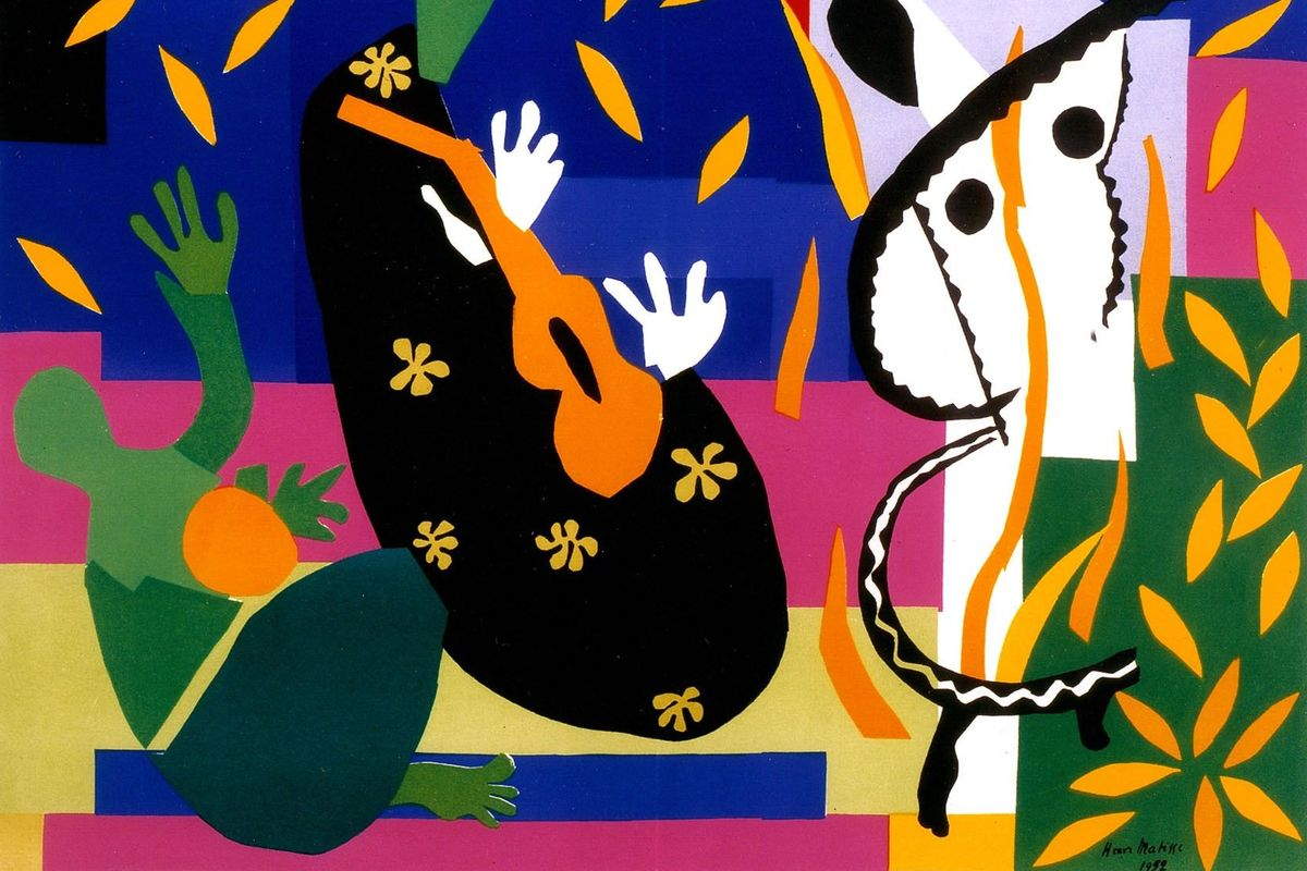 Henri Matisse - La tristesse du roi (detail), 1952