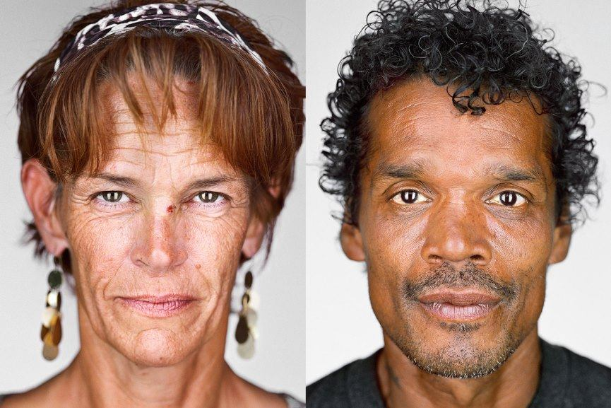 Homeless people photographed by Martin Schoeller (courtesy of proof.nationalgeographic.com)