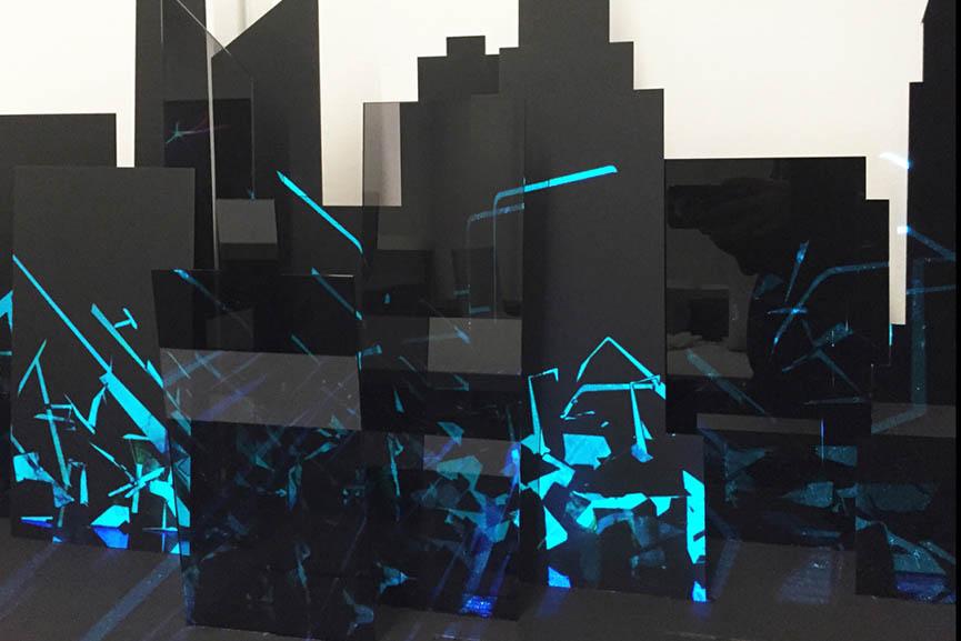 Hu Yueyin - 4D Graffiti Projection Mapping