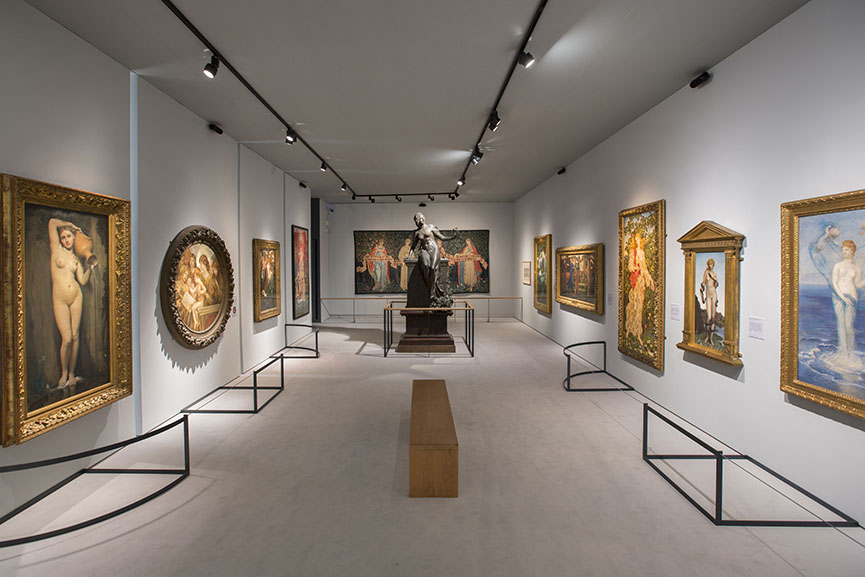Installation views of Botticelli Reimagined at the Victoria and Albert Museum London
