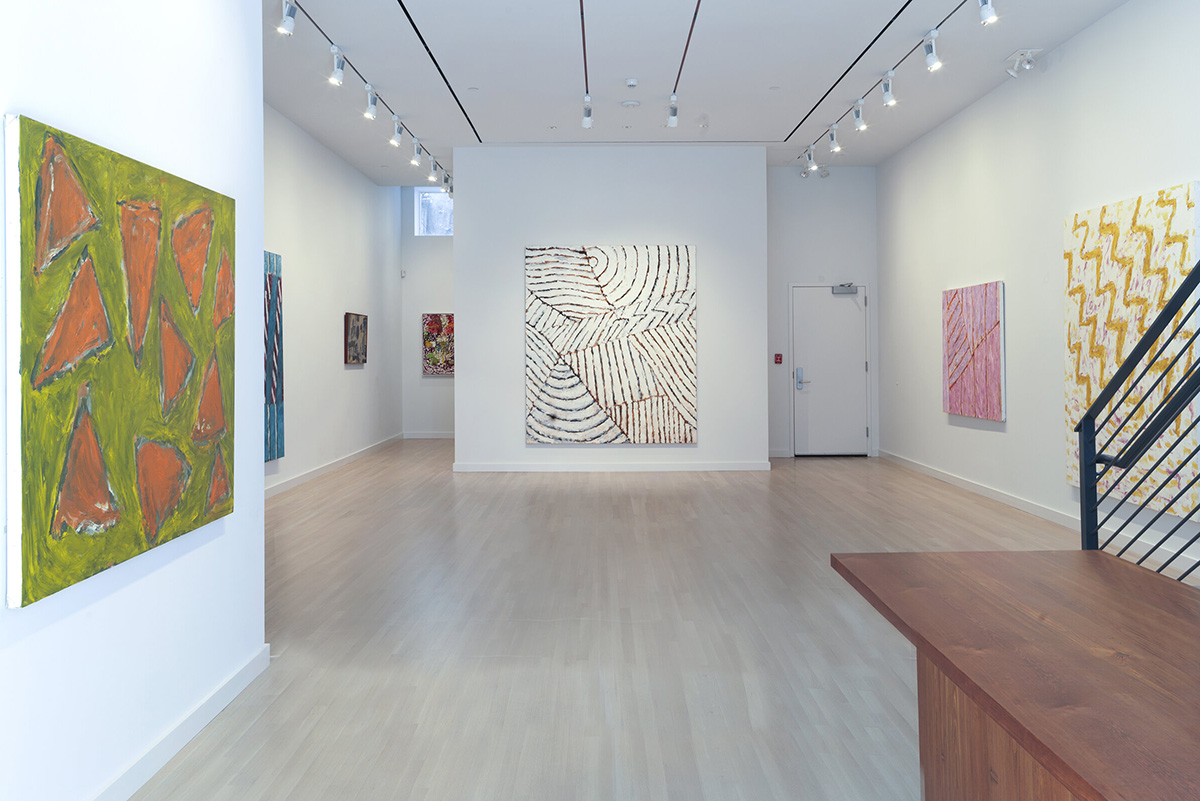 Installation view, Pat Passlof: The Brush Is The Finger of the Brain