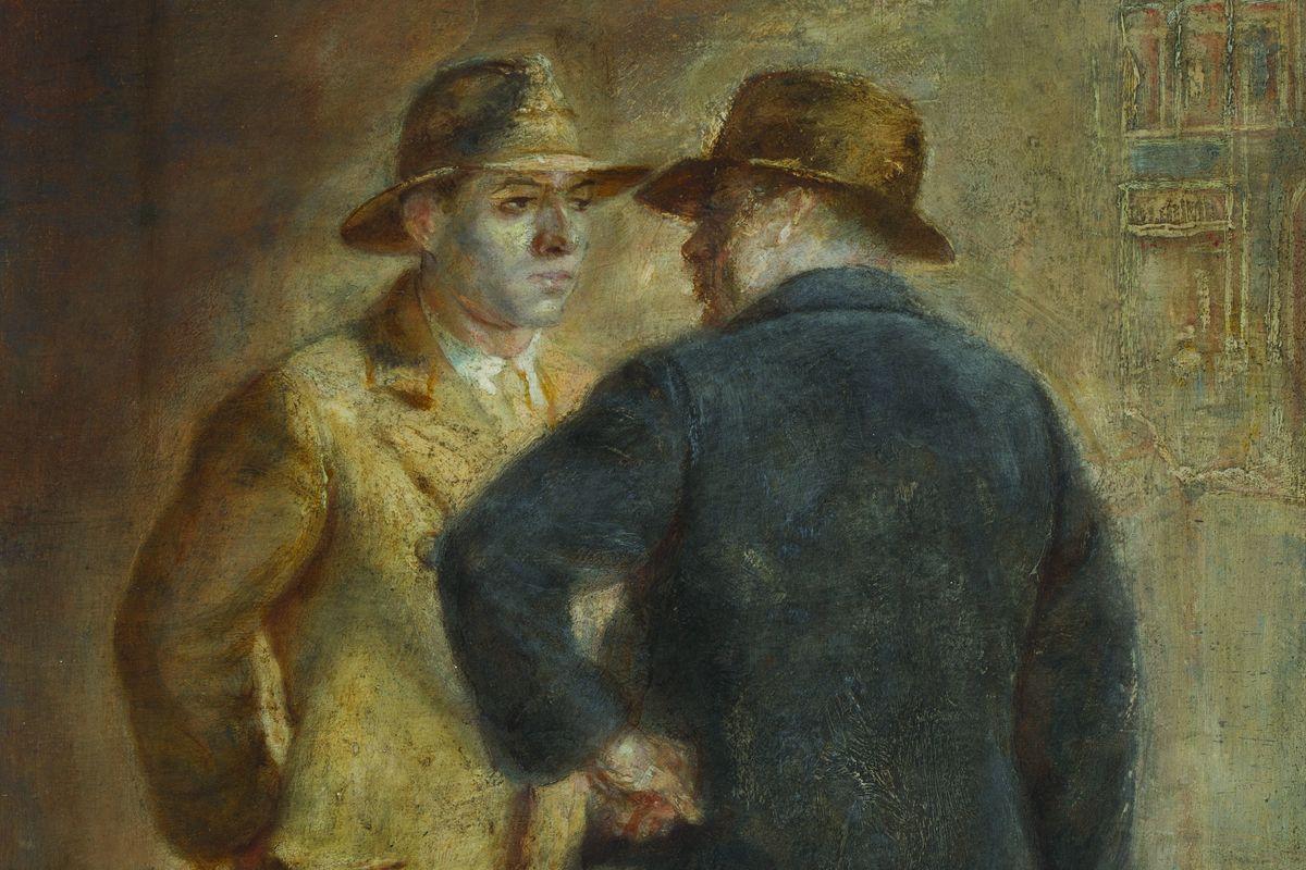 Isabel Bishop - The Conversation (detail), 1931