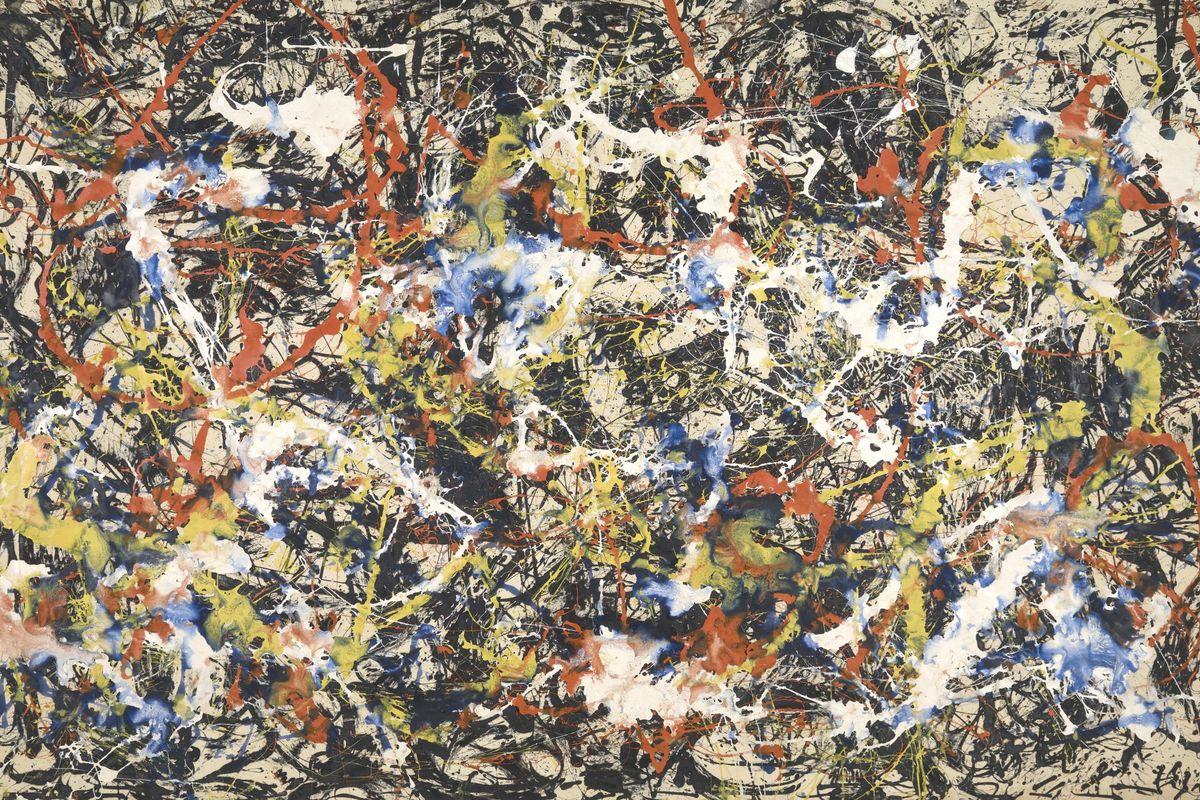 Jackson Pollock - Convergence (detail)