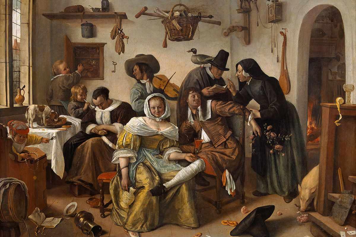 Jan Steen - Beware of Luxury, 1663