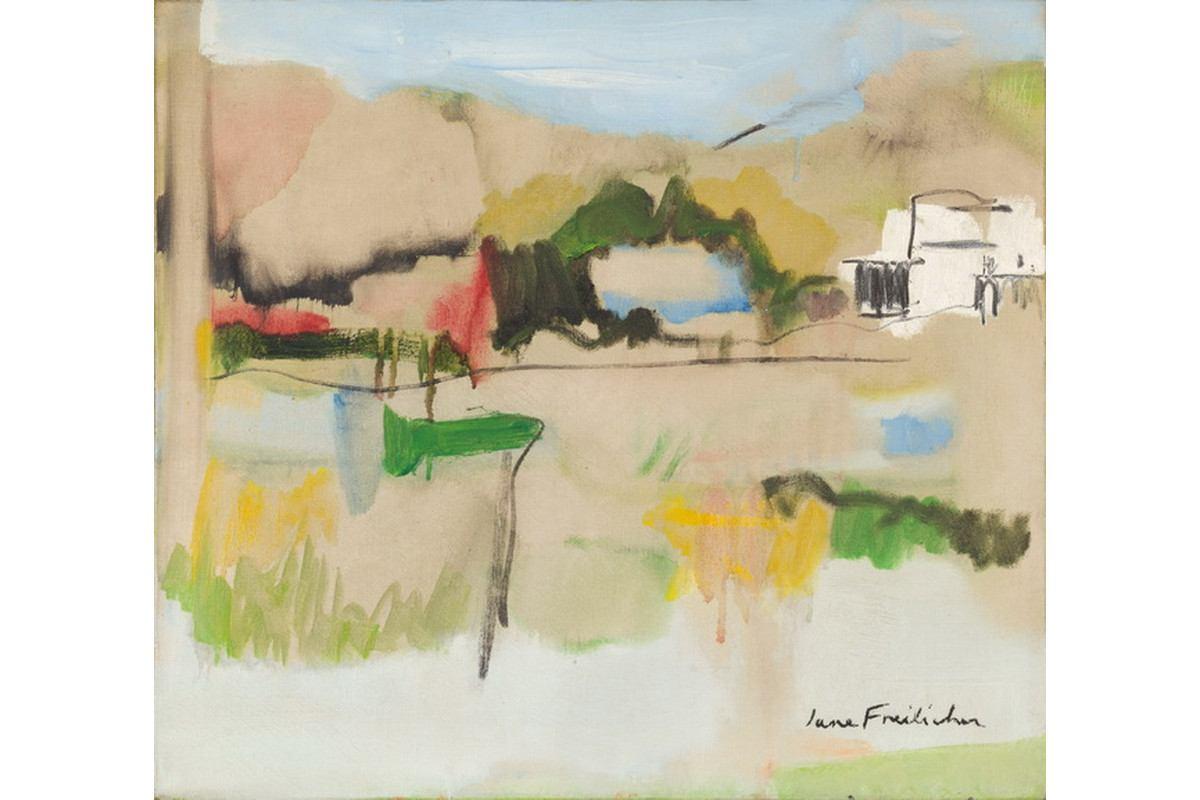 Jane Freilicher - Landscape in Water Mill