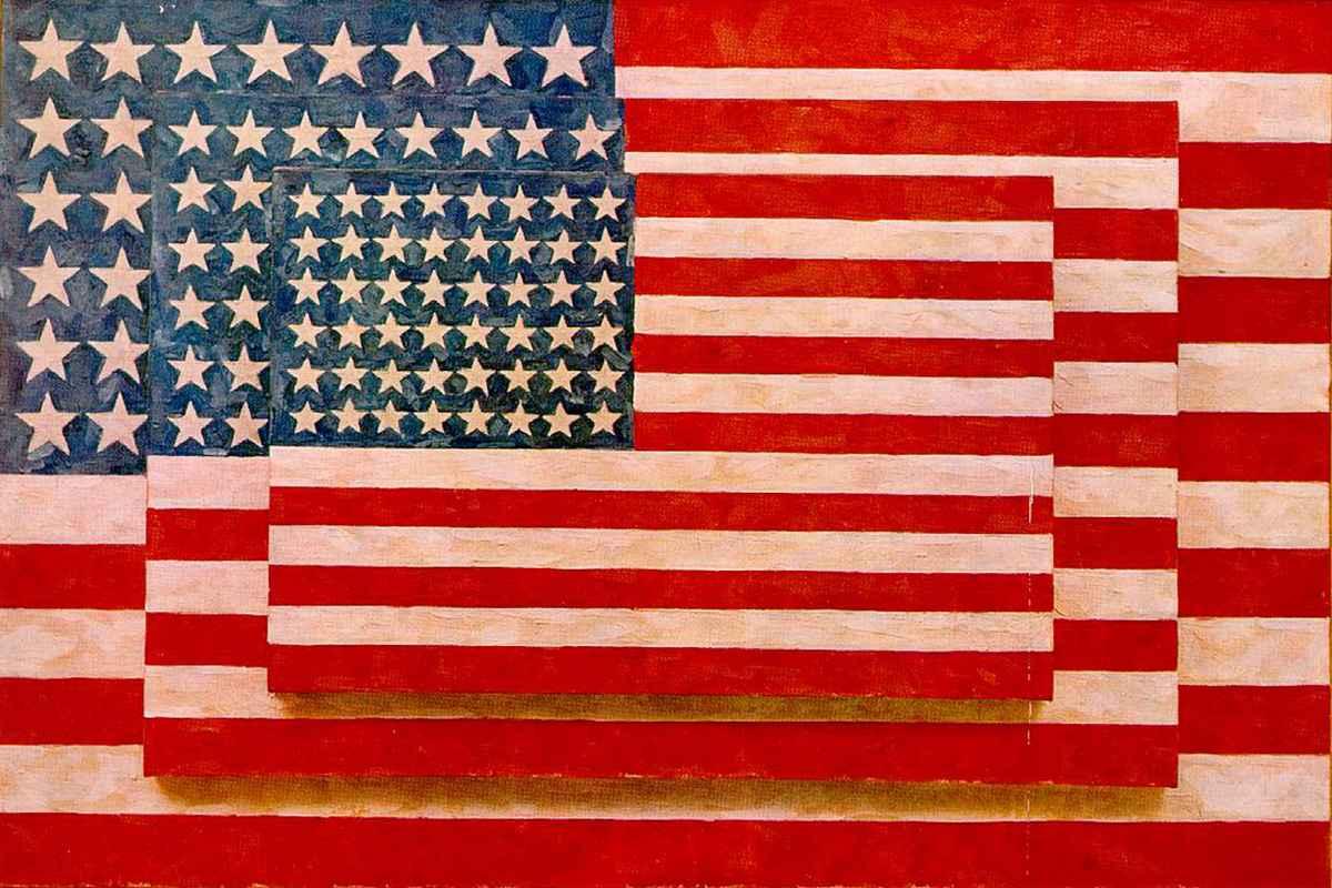 Jasper Johns - Three Flags, 1958