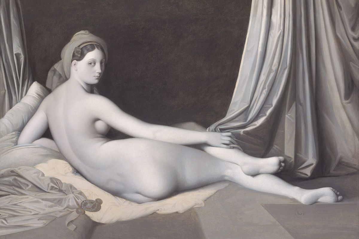 Jean Auguste Dominique Ingres  - Odalisque, between circa 1824 and circa 1834, via metmuseum org