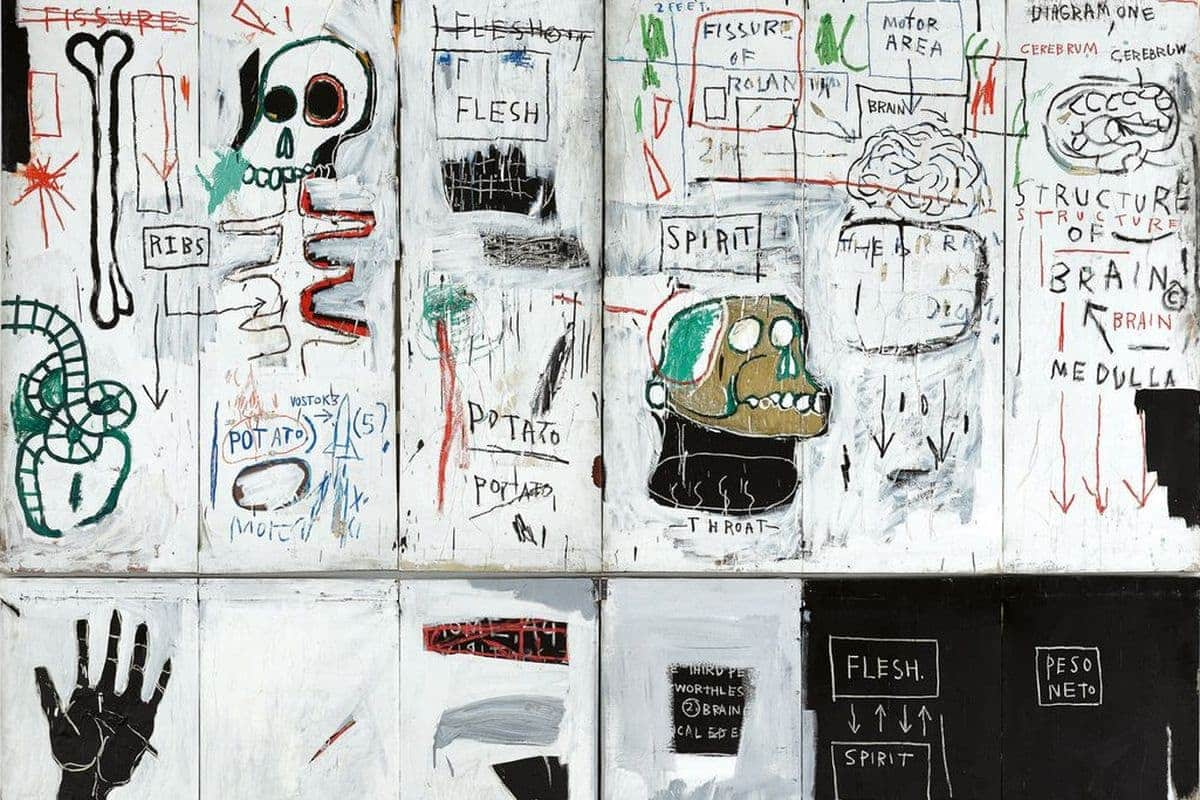 Jean-Michel - Basquiat Flesh and Spirit (detail), 1982-83