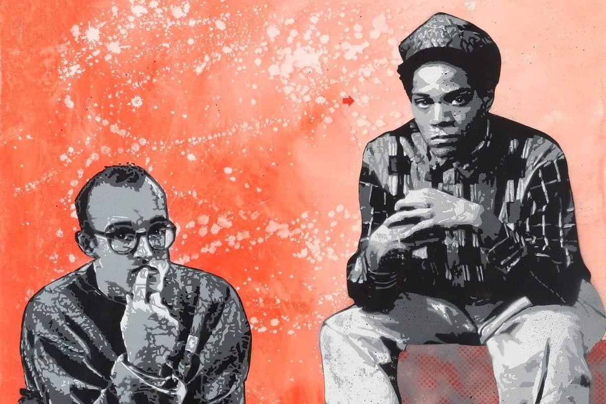 Jef Aerosol - Jean-Michel Basquiat & Keith Haring (detail)