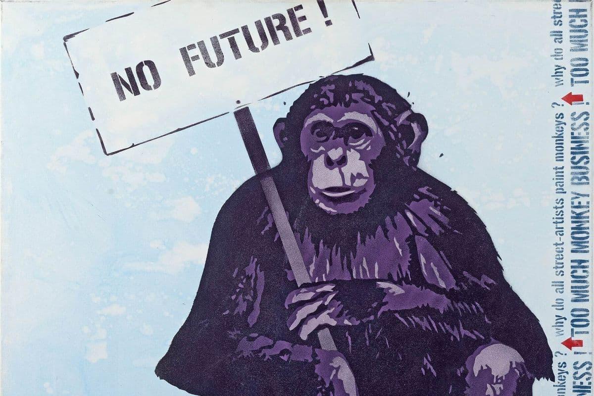 Jef Aerosol - No future (detail), 2003