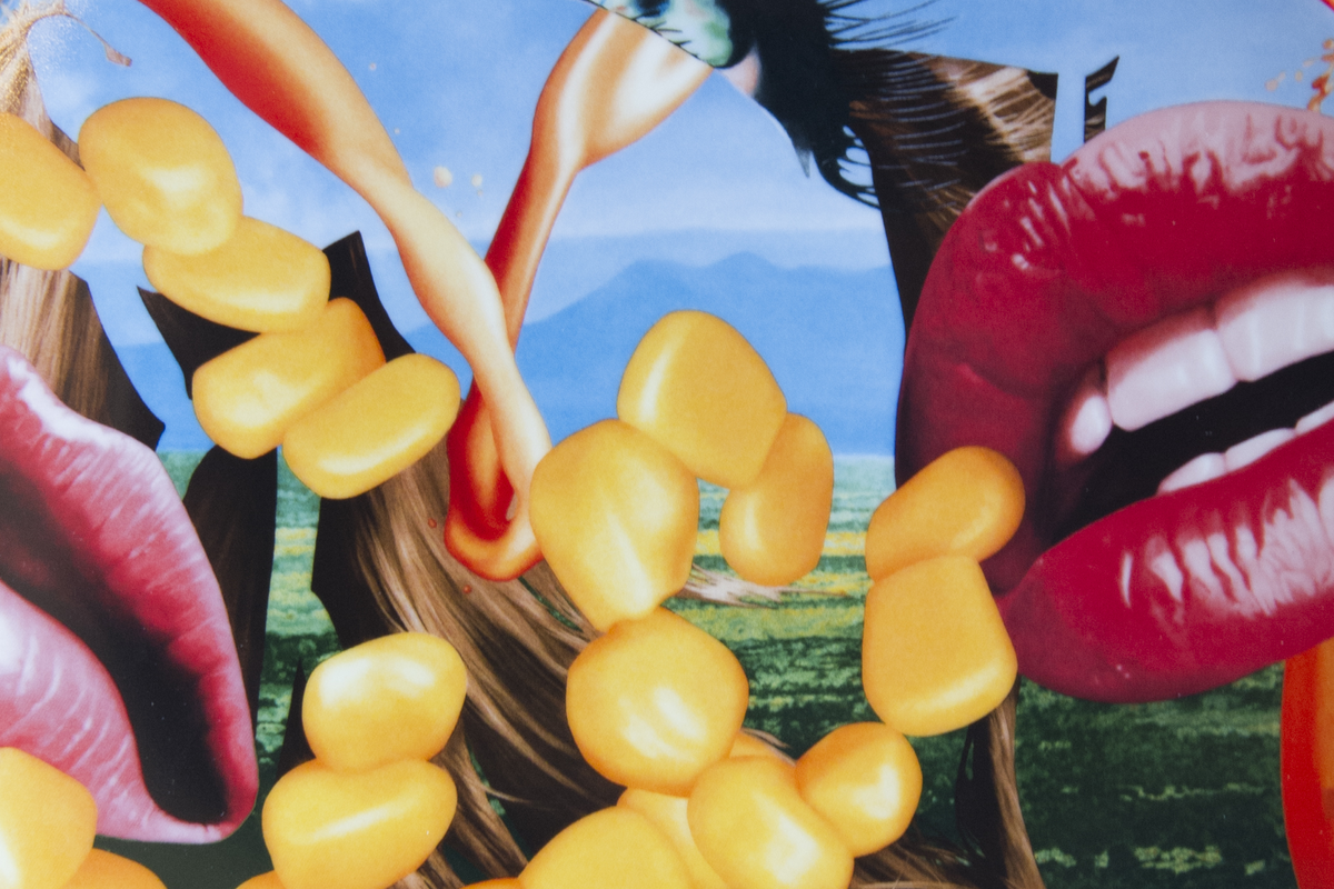 Jeff Koons – Lips (detail)