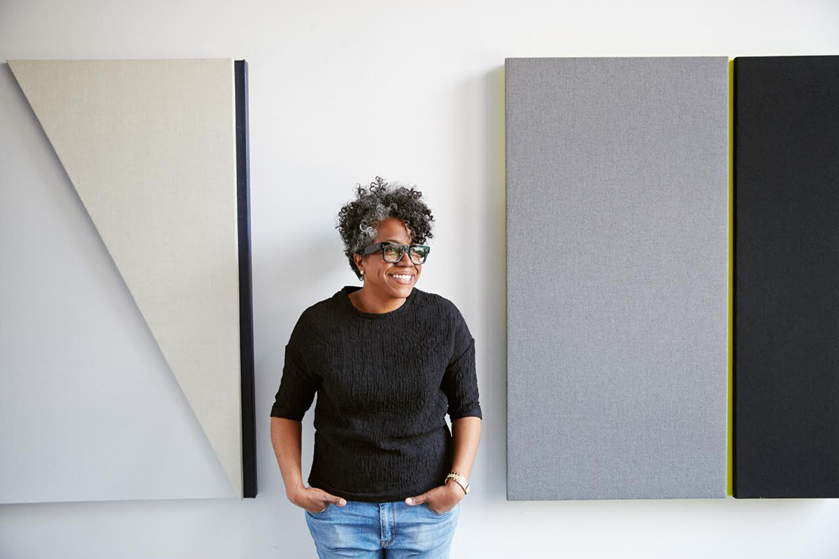 Jennie C. Jones in her Brooklyn Studio, 2015