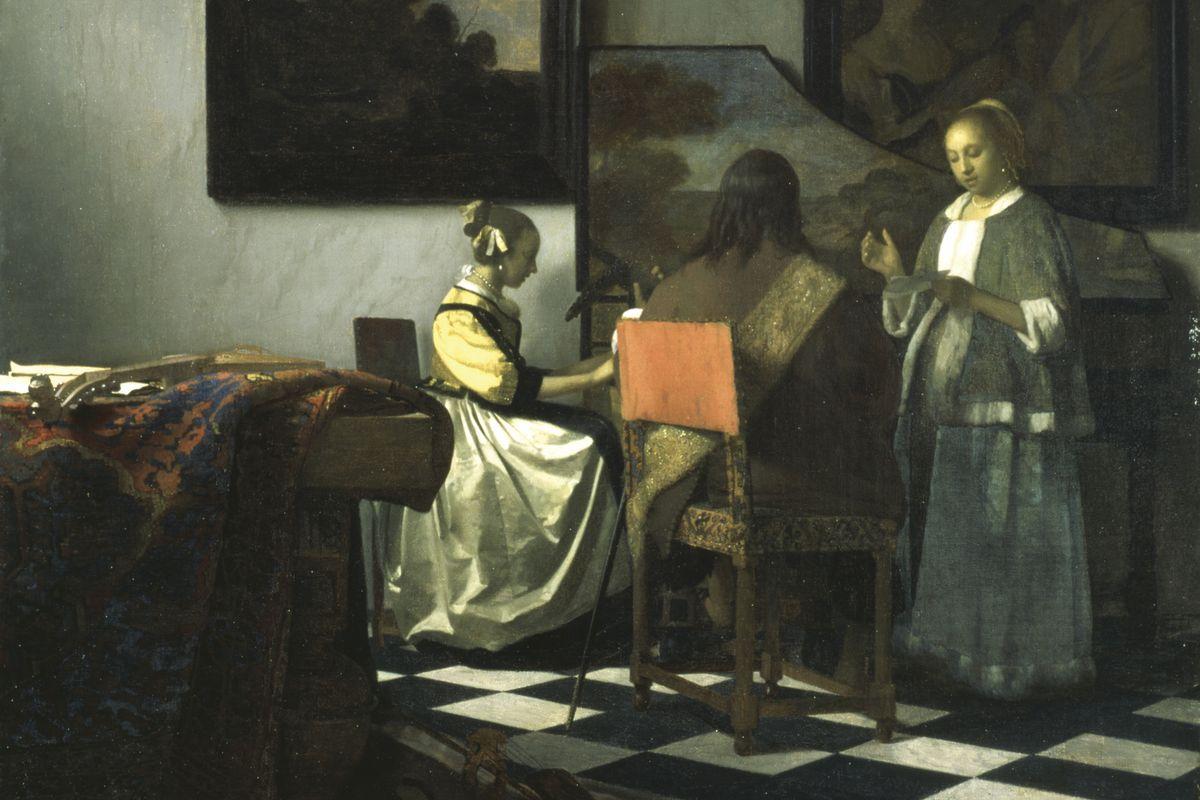 Johannes Vermeer - The Concert (detail)