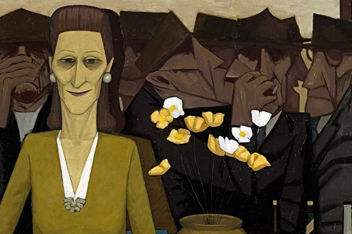 John Brack - The bar, detail