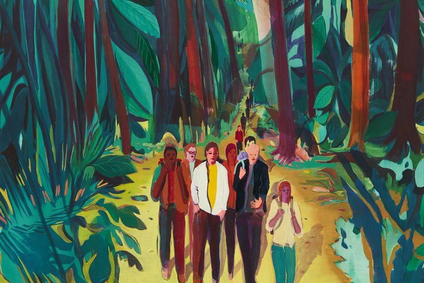 Jules de Balincourt - Canyon Kids (detail)