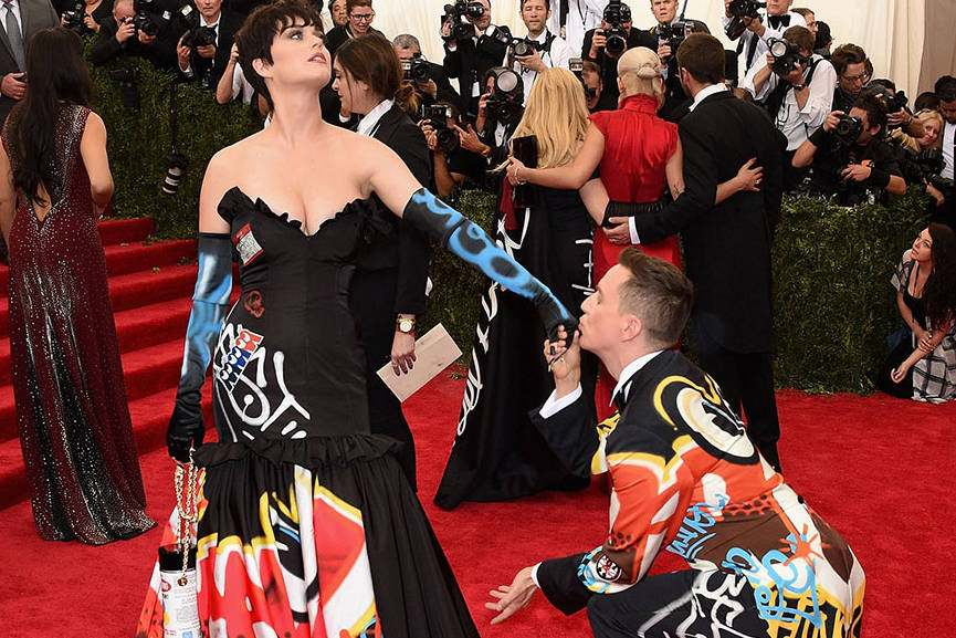 Katy Perry in Moschino dress - Photo by Larry Busacca - Getty Images, detail