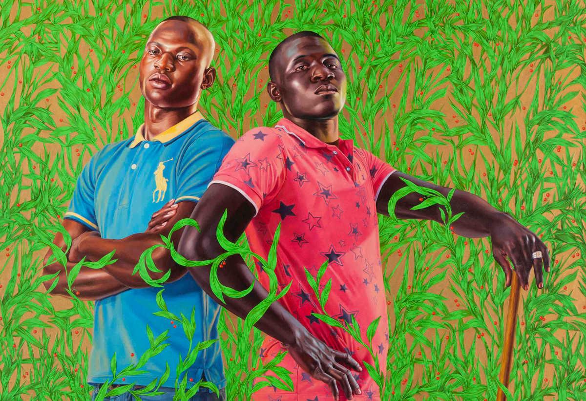 Kehinde Wiley - Diarra Mohamed and Mohamed Konate, 2013 (detail) 1200