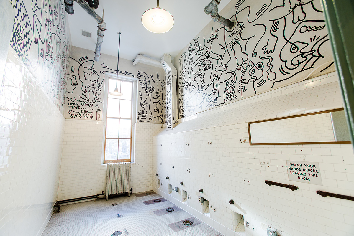 Keith Haring Bathroom Mural at The Center c Liz Ligon 1