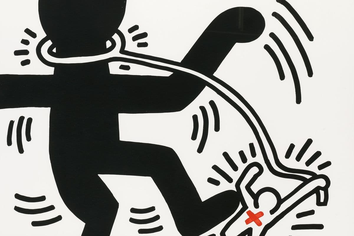 Keith Haring - Free South Africa (detail), 1985