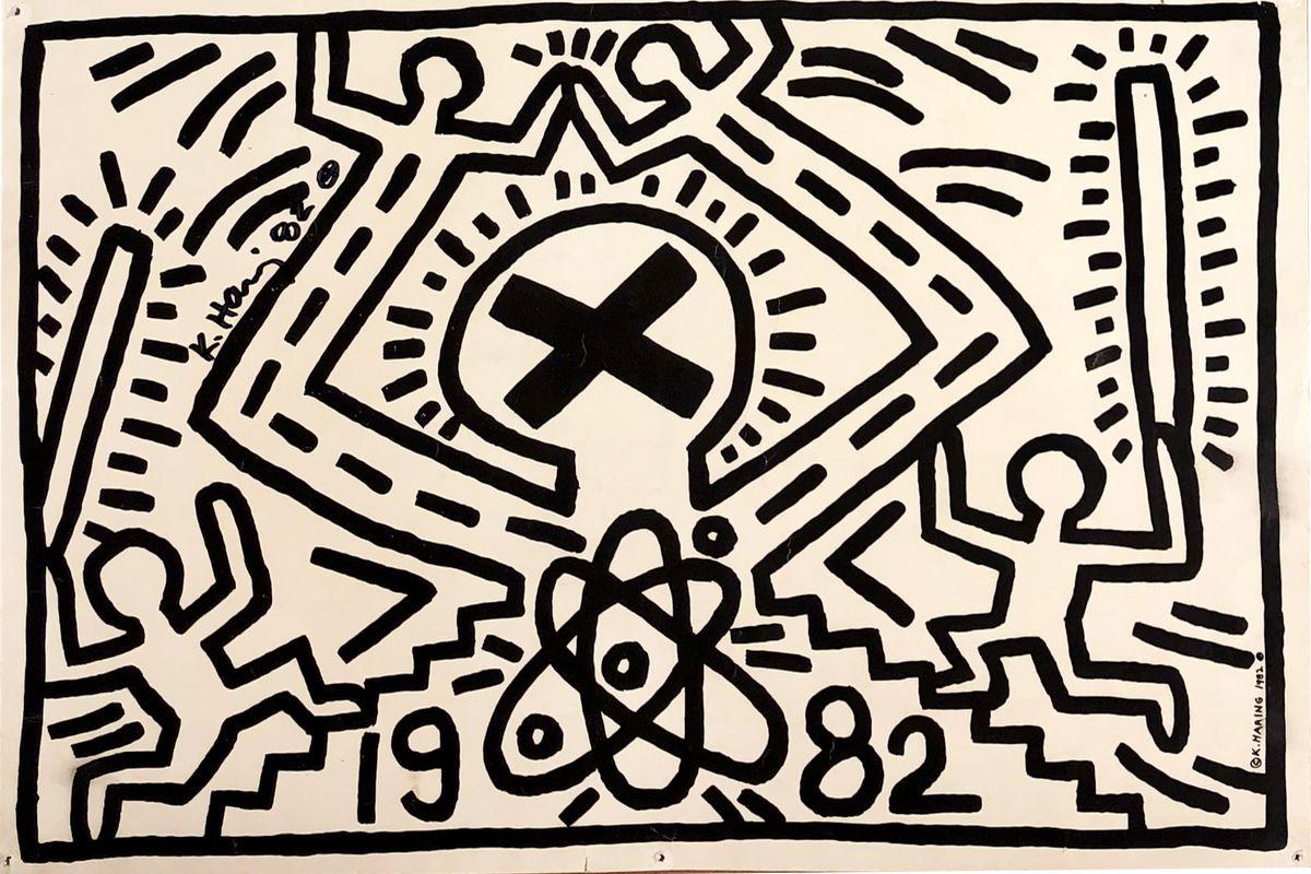 Keith Haring - No Nukes (detail), 1982