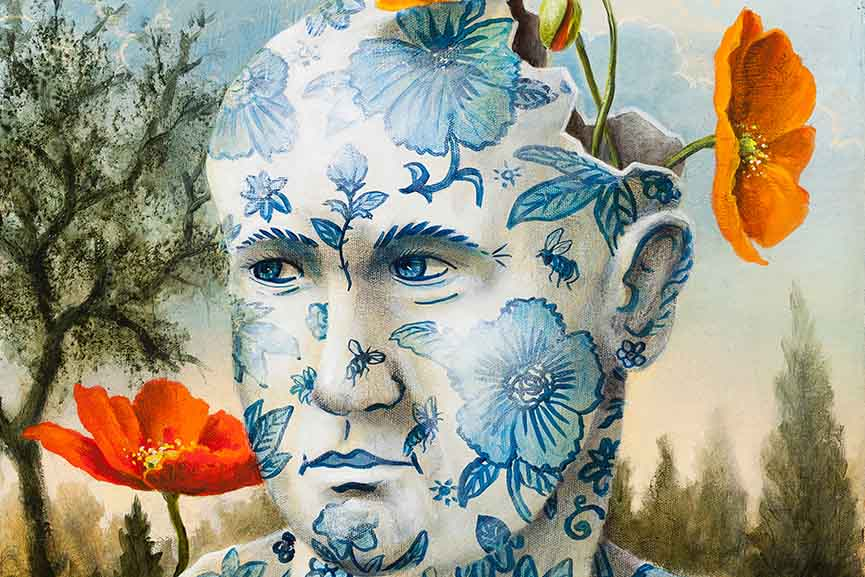 Kevin Sloan - Delicate Garden-The Poet, detail