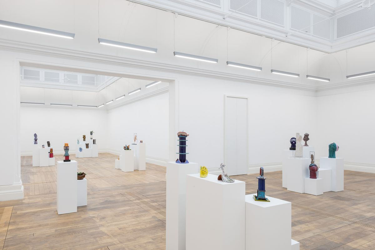 Kiki Kogelnik, Riot of Objects. Installation view at MOSTYN, Wales UK, 2020. Photograph by Mark Blower