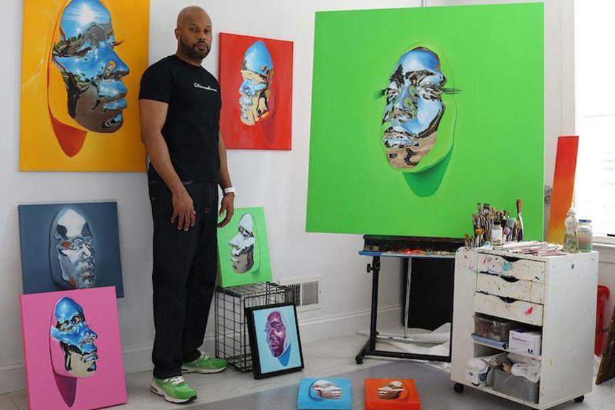Kip Omolade in the Studio