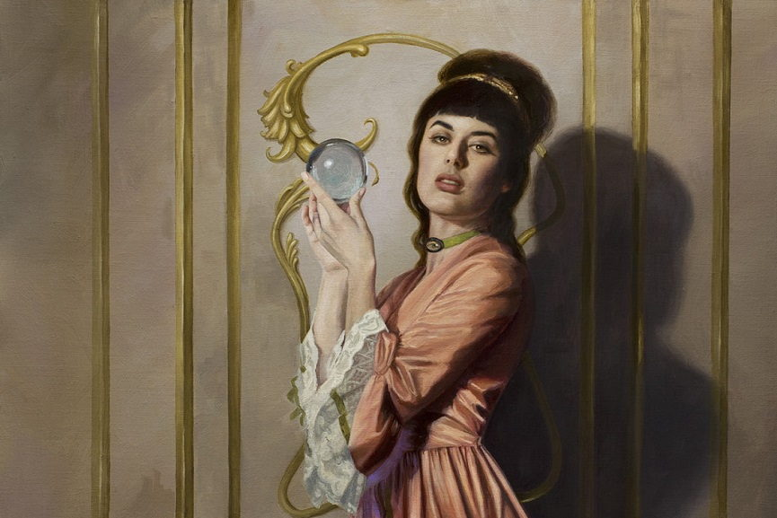 Laurie Lee Brom - The Crystal Gazer, detail.