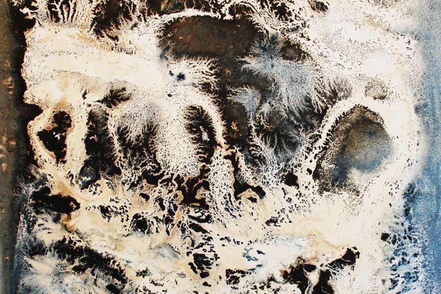 Le Grand Vierre - Amorfi oil and bitumen on cotton paper, 2016 (detail)
