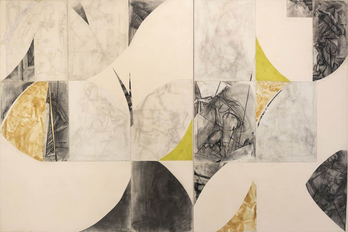 Lee Krasner - Present Conditional, 1976, collage on canvas, 72 x 108 inches. Lee Krasner, Present Conditional, 1976, collage on canvas, 72 x 108 inches