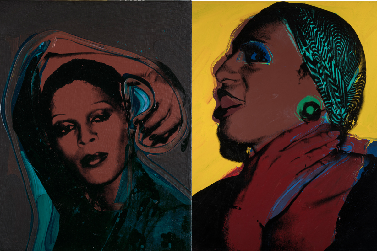 Left Andy Warhol - Ladies and Gentlemen (Iris) 1975 Right Andy Warhol - Ladies and Gentlemen (Wilhelmina Ross) 1975