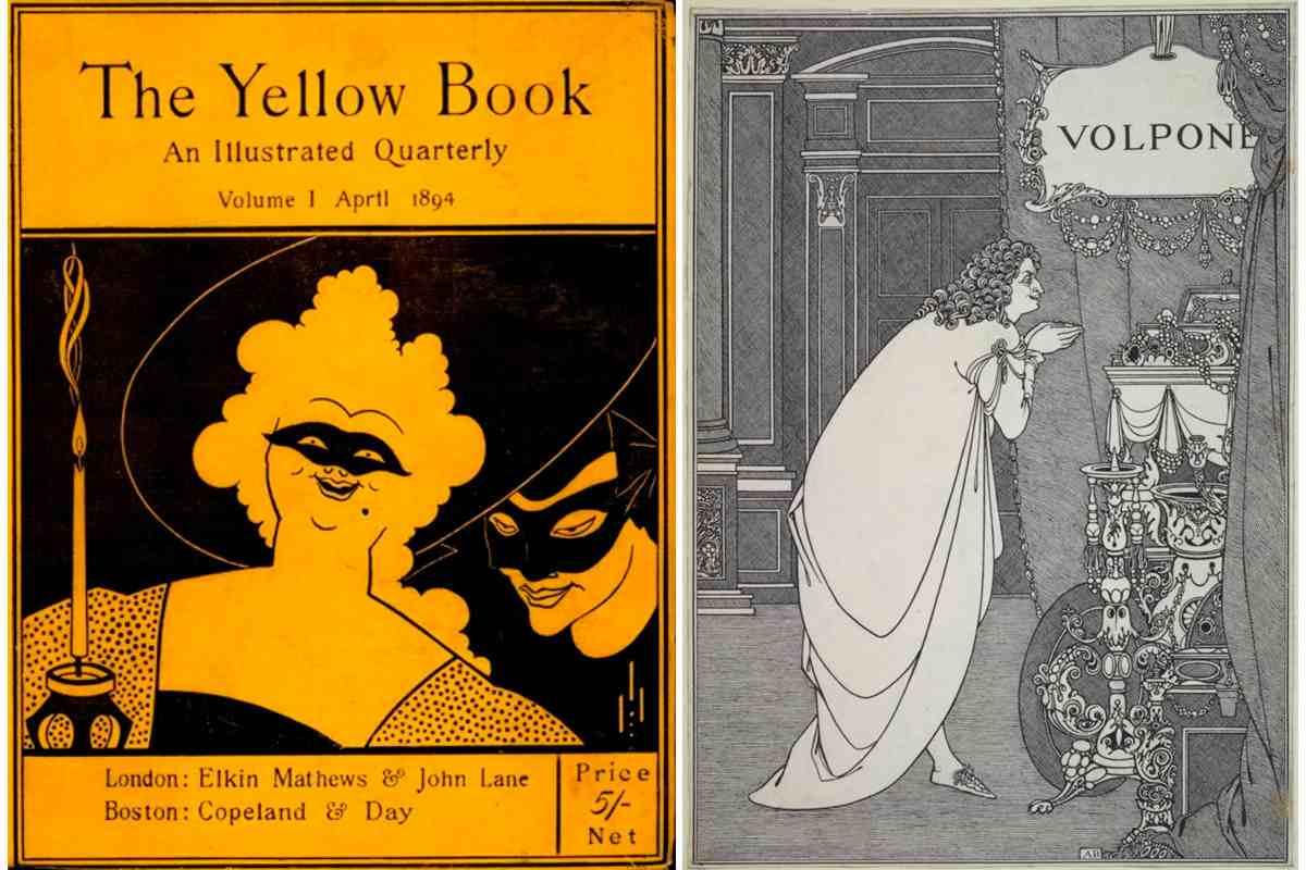 Left Aubrey Beardsley - The Yellow Book Right Aubrey Beardsley - Volpone Adoring his Treasure