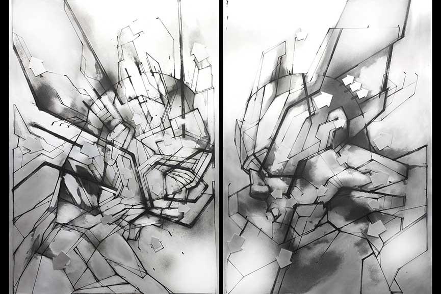 Left: Lokiss - Reflet 01 / Right: Lokiss - Reflet 02