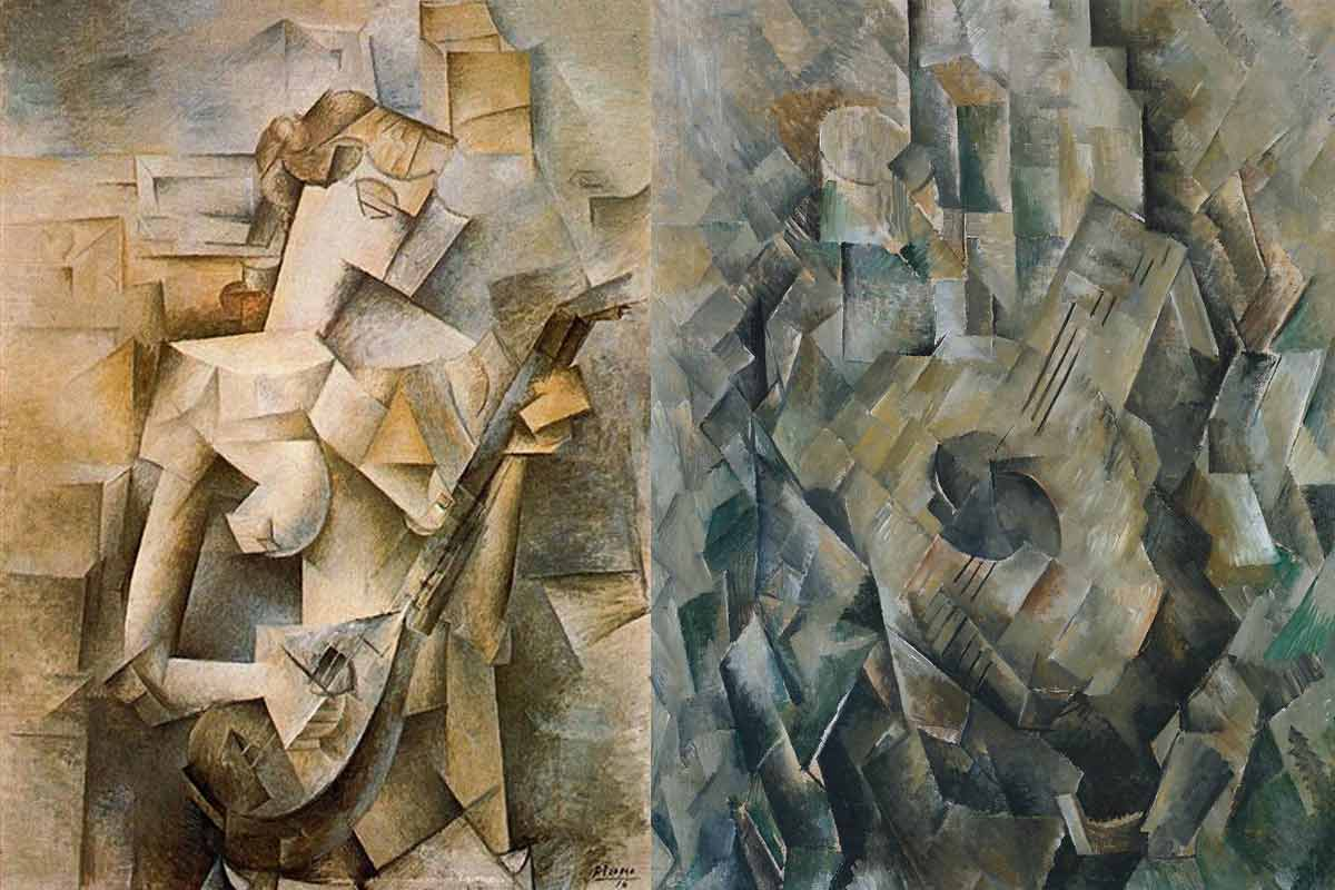 Left---Pablo-Picasso---Girl-with-Mandolin-Right--Georges-Braque---Mandora.-Images-via-wikiart.org