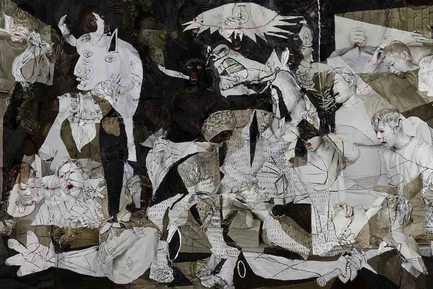 Liu Bolin-Guernica, 2016, detail 1