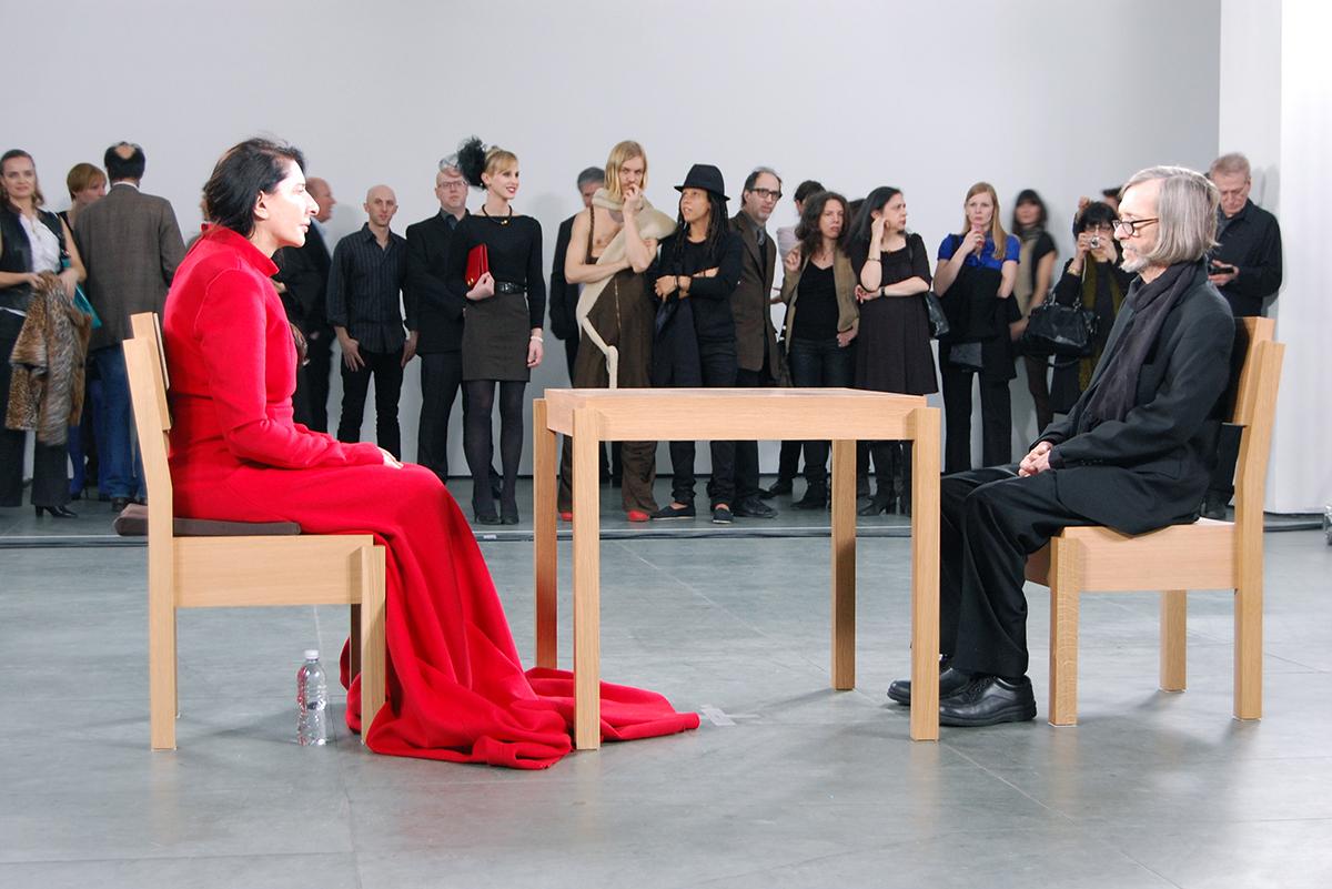 Marina Abramović,The Artist is Present, 2010, Museum of Modern Art, New York