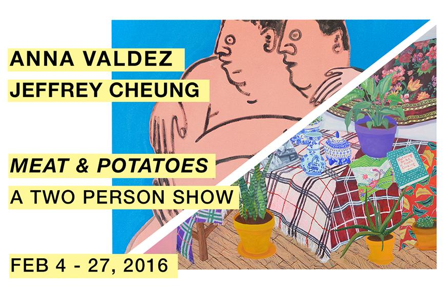 Meat and Potatoes - Anna Valdez and Jeffrey Cheung, flyer
